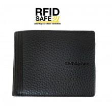 Samsonite DUBLE LTH. kis fekete pénz és irattartó tárca-RFID védett 139987-1041