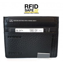 Samsonite DUBLE LTH. fekete-RFID védett lapos kártyatartó 139993-1041