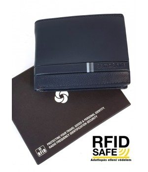 Samsonite FLAGGED  kis sötétkék pénz és irattartó tárca-RFID védett 139946-1647