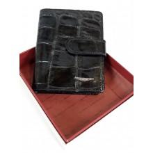 GIUDI álló hüllő mintás fekete kártyatartó 7007VA-03