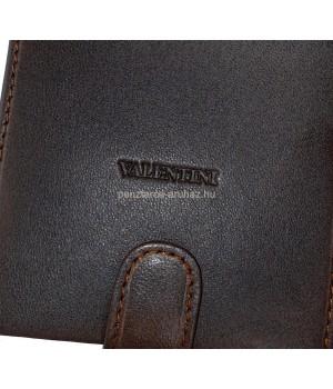 Valentini sötétbarna férfi patentos bőr pénztárca 306-260