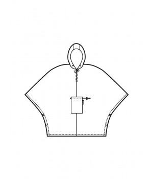Reisenthel MINI-MAXI fekete, fehér hopi mintás esőkabát AN7034