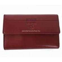 Valentini barna, szögletes fedelű,közepes női bőr pénztárca 563121