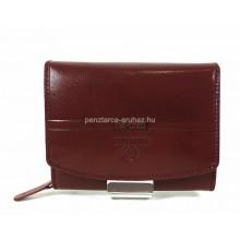 Valentini barna, íves fedelű,kis női bőr pénztárca 563586
