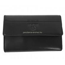 Valentini fekete, szögletes fedelű,közepes női bőr pénztárca 563121