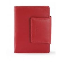 LA SCALA piros női bőr pénz és irattartó tárca DN11259