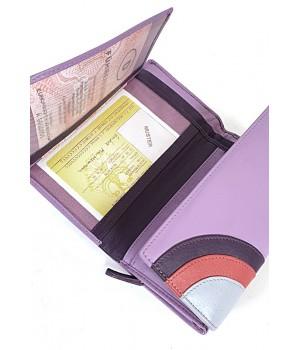 American Pride közepes, kétoldalas lila-szivárványos pénztárca 78627