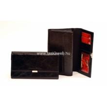 Absolut Leather fekete bőr pincértárca ABS-7404