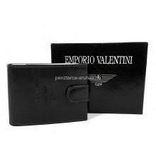 Valentini, kisebb, lepatentolható válaszfalas fekete bőr pénztárca 563562