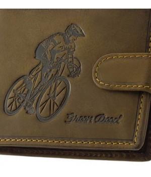 Green Deed nagy, biciklis nyomatos, nyelves bőr pénztárca BICR9641T