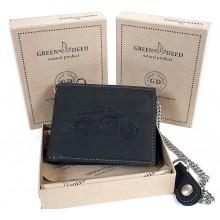 Green Deed fekete, rögzítőláncos, motornyomatos, szabadon nyíló pénztárca A1MR1021