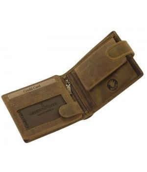 Green Deed németjuhász nyomatos, RFID védett nyelves bőr pénztárca NJR08T