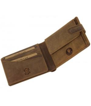 Green Deed ponty nyomatos, RFID védett nyelves bőr pénztárca APR99T