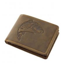 Green Deed kis, ponty nyomatos, RFID védett nyelves bőr pénztárca APR102
