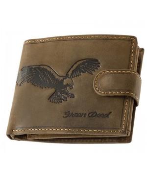 Green Deed sas nyomatos, RFID védett nyelves bőr pénztárca SAS6002LT