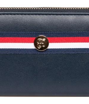 Heavy Tools 21 EMERSET kék-csíkos körzippes hosszú női pénztárca