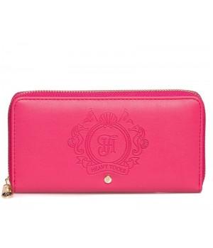 Heavy Tools 21 EMERSET pink címer nyomatos körzippes hosszú női pénztárca