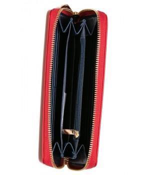 Heavy Tools 21 EMERSET piros -csíkos nyomatos körzippes hosszú női pénztárca