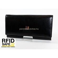 BLACKLINE RF védett, hosszú fekete női pénz-és irattárca W8144-5A