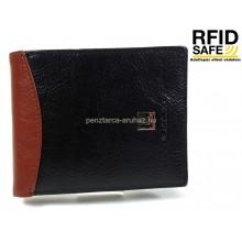 BLACKLINE RF védett, kombinált fekete-barna férfi pénztárca M8302-5B