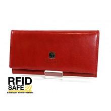 BLACKLINE RF védett hosszú piros női pénz-és irattárca W8144-5A