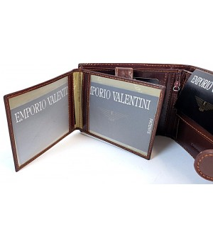 Valentini barna, lapozható, lepatentolható válaszfalas bőr pénztárca 5631054